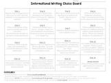 Choice Board - Informational Writing Topics