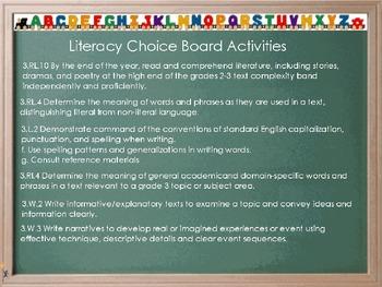 Choice Board- Jalapeno Bagels (Reading Street) THIRD GRADE