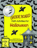 Choice Board Math Activities for Halloween