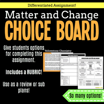 Choice Board-Matter and Change