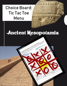 Choice Board: Mesopotamia Tic Tac Toe Menu