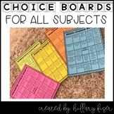 Choice Boards (Distance Learning)