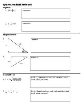 Choice Board: Physics Skills