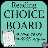 Fiction Reading Choice Board for Any Novel or Short Story,