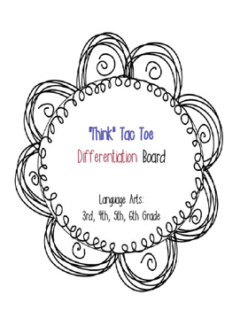 Choice Board-Reading Differentiation