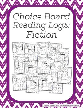 Choice Board Reading Logs: Fiction