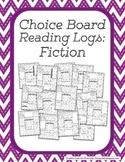 Choice Board Reading Logs: Fiction
