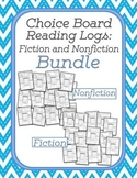 Choice Board Reading Logs: Fiction and Nonfiction Bundle