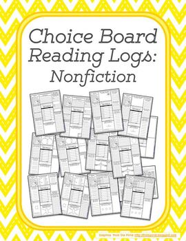 Choice Board Reading Logs: Nonfiction