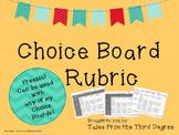 Choice Board Rubric Freebie