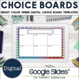 Editable Choice Board Template   Digital   Bright Ombre