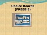 Choice Board Templates