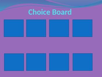 Choice board templates by autism zen teachers pay teachers choice board templates pronofoot35fo Choice Image