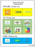 Choice Board Templates for Distance Learning