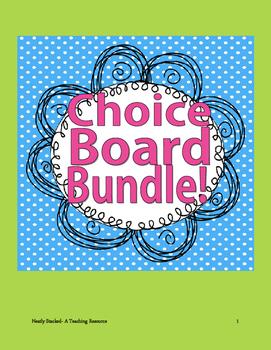Choice Board bundle