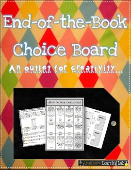 Choice Board for Any Book (Fiction)