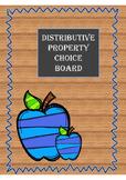 Algebra and Pre-Algebra Choice Board for Distributive Property