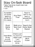 Choice Board for Early Finishers
