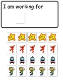 Token Boards with tokens of Elmo, Doc Mc Stuffins, etc and Choice Board