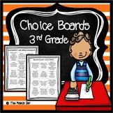 Choice Boards (3rd Grade Math) No Prep