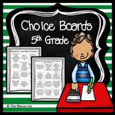 Choice Boards (5th Grade Math) No Prep