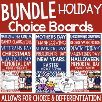 Holiday Choice Boards Growing Bundle