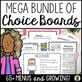 Choice Boards MEGA Bundle for Enrichment in Math, Science,