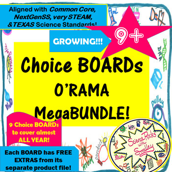 Choice Boards O'Rama! All of my ChoicesBOARDs + Growing++