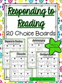 Choice Boards - Responding to Reading