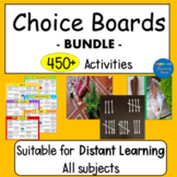 Choice Boards Suitable for Distant Learning Set of 19 Pages