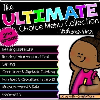 Choice Boards Second Grade Bundle ELA and Math
