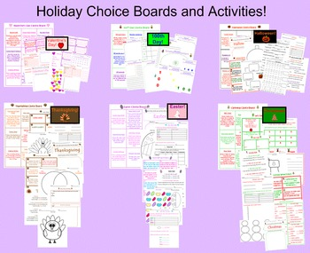 Choice Boards and Activities Ultimate Bundle!