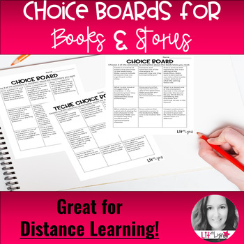 Choice Boards for ANY Novel or Short Story