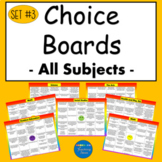 Choice Boards Suitable for Distant Learning (Set #3)