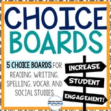 Choice Boards for ELA and Social Studies - Middle School Choice Boards