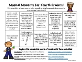 Choice Boards for Elementary General Music (Distance Learning)