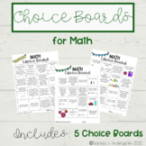 Choice Boards for Math
