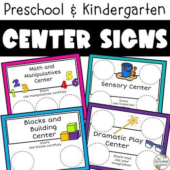 Free Choice Boards for Preschool