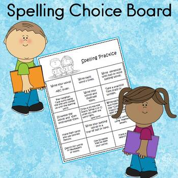 Spelling Words and Sight Words Choice Board