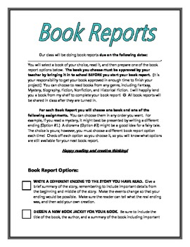 Choice Book Reports