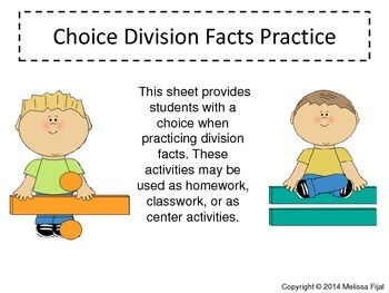 Choice Division Facts Practice
