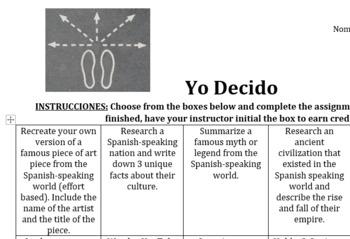 Choice Homework