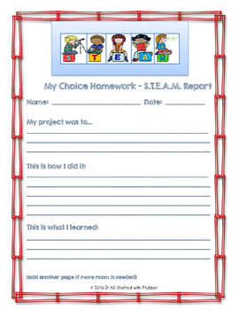 Choice Homework: 3rd Grade Journeys, Unit 1