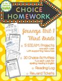 Choice Homework: 3rd Grade Journeys, Unit 1
