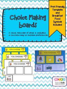 CHOICE MAKING BOARD WITH PICTURE SYMBOLS