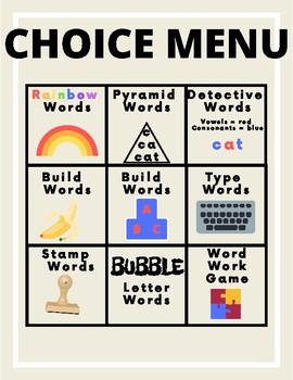 Choice Menu