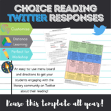 Independent/ Choice Reading Twitter Response Menu + Directions
