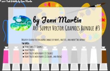 Art Supply Vector Graphics Bundle #3