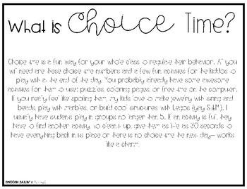 Choice Time {A Behavior Management System} B&W & Color!