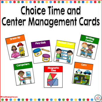 Choice Time and Center Management Cards With Editable Nametags